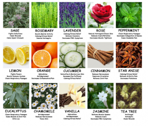 chart of essential oils