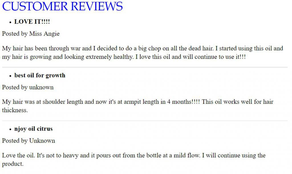 njoy hair growth oil review