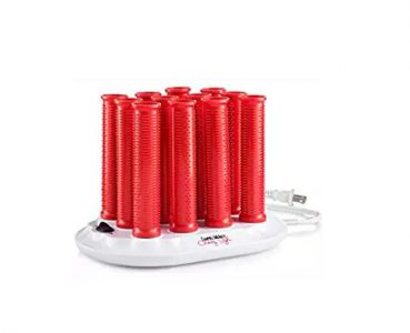 red hair hot rollers in a set