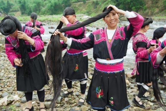 yao women use rice water for their hair