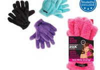 quick dry hair gloves