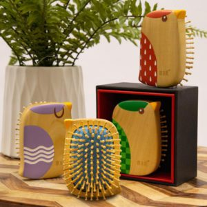 wooden hair comb brush