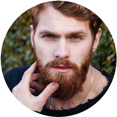 man with reddish beard and facial hair