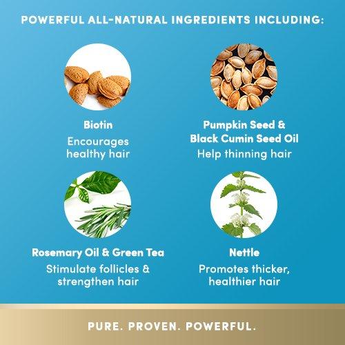 list of ingredients biotin rosemary nettle pumpkin seed