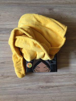 black castor oil microfiber hair turban towel